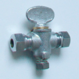 Chrome Gas Isolation Valve 8mm Butterfly Handle - 07000750